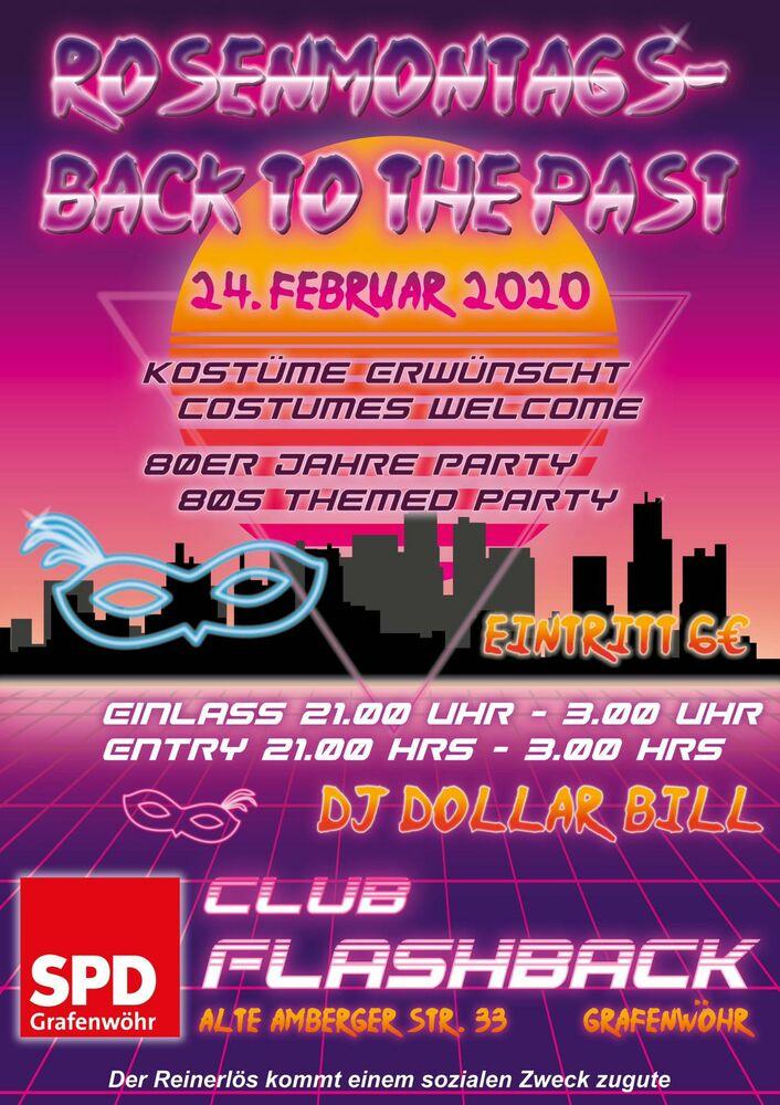 Back To The Past am Rosenmontag im Club Flashback in Grafenwöhr